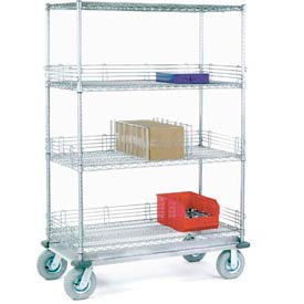 Nexel® Adjustable Chrome Wire Shelf Trucks