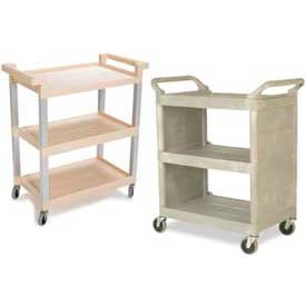 3-Shelf Plastic Serving & Busing Carts