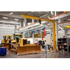 Gorbel® Heavy Duty mât Type potences - Full piétement luge 4000 lb de capacité de 10 000 lb