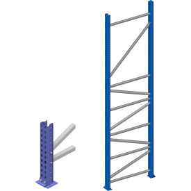 Interlake Mecalux - Bolted Tear Drop Pallet Rack Upright Frames