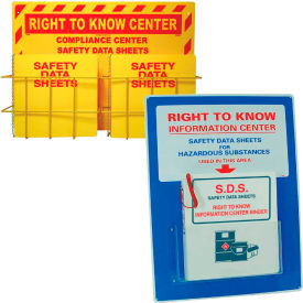 Right To Know, SDS and GHS Wall Mount Centers And Binder Holders