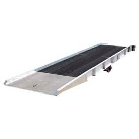 Aluminum Forklift Yard Ramps with Steel Grating