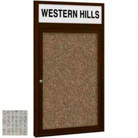 1 Door Non-Illuminated Enclosed Board with Header