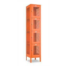 Penco Invincible II, 4 Tier, Ready To Assemble Steel Lockers With Recessed Handle