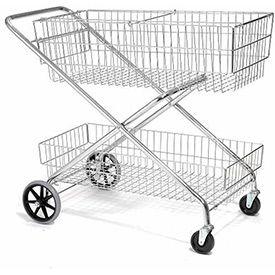 Wire Utility Basket Cart