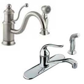 Deck Mounted Kitchen Faucets With Sidespray