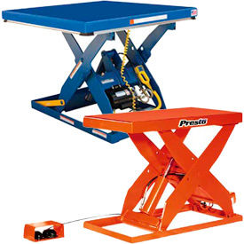 Heavy Duty Powered Scissor Lift Tables - 4000 Lb. Capacity