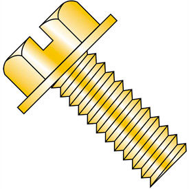 Slotted Indented Hex Washer Machine Screws