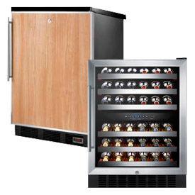 Built-In Freestanding Beer & Wine Storage