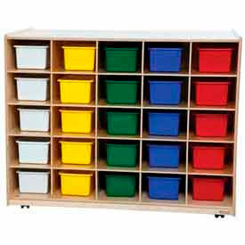 Mobile Cubby Storage Units With Trays