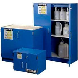 Justrite® Blue Wood Laminated Acid Storage Cabinets