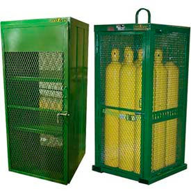 High Pressure Cylinder Storage Cabinets - Steel