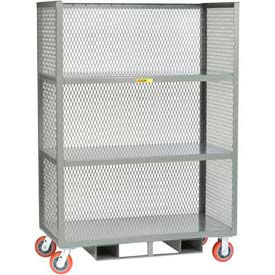 3-Sided Mesh Panel Fixed Shelf Trucks -Forkliftable