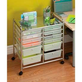 Chariots de tiroir organisés en plastique