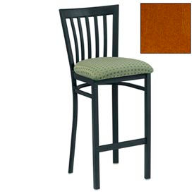 "Vertical Slat-Back Bar Stool 17-1/2""W X 17""D X 41""H - Cherry - Pkg Qty 2"