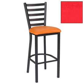 "5 Slat-Back Bar Stool 17-1/2""W X 16-1/2""D X 45""H - Red - Pkg Qty 2"