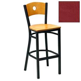 """Cherry Circle-Back Bar Stool 17-1/2""""W X 17""""D X 42""""H - Burgundy - Pkg Qty 2"""