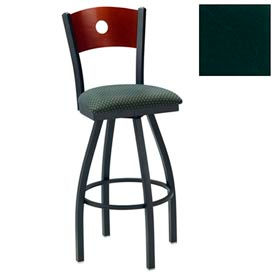 "Cherry Circle-Back Swivel Bar Stool 17-1/2""W X 17""D X 42""H - Hunter Green - Pkg Qty 2"