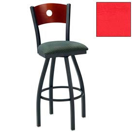 """Natural Circle-Back Swivel Bar Stool 17-1/2""""W X 17""""D X 42""""H - Red - Pkg Qty 2"""