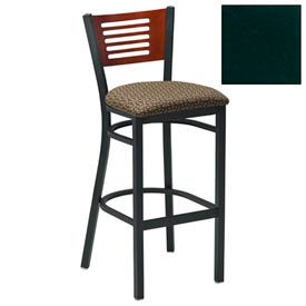 "Natural 5 Slat-Back Bar Stool 17-1/2""W X 17""D X 42""H - Hunter Green - Pkg Qty 2"