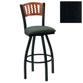 "Natural 5 Wave-Back Swivel Bar Stool 17-1/2""W X 17""D X 42""H - Black - Pkg Qty 2"