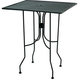 "Premier Hospitality Furniture 36"" Square Bar Height Table Black With Butterfly Legs"