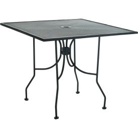 """Premier Hospitality Furniture 36"""" Square Table Black With Butterfly Legs"""