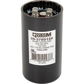 Rotom 378B, 378-440MFD, 125V, Start Capacitor, Round