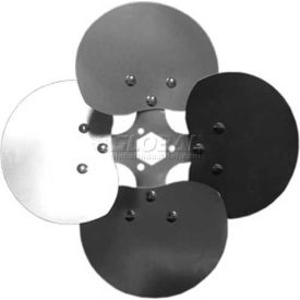 """Four Wing Free Air Fan Blade, Interchangeable Hub, Aluminum Blade, CW, 20"""" Dia., 23° Pitch"""