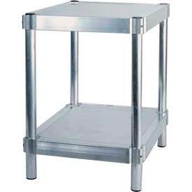 "Prairie View N243024-2, Shelving Unit, 2 shelf, 24""W x 30""H x 24""L, Aluminum"