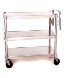 """Prairie View AUC2024-3, Utility Cart, 3-Shelf, 20""""W x 36""""H x 24""""D, Aluminum"""