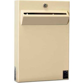 "Protex Low-Profile Wall Mount Depository Drop Box Tubular Lock LPD-161 - 11""Wx2-3/8""Dx16""H Beige"