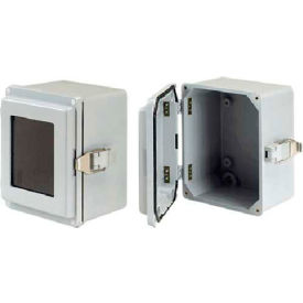 Hoffman A1066JFGQRPWR J Box,Type 4X,Window Cover/QR, 9.50x6.00x5.53, Fiberglass