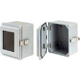 Hoffman A1066JFGQRR J Box, Type 4X, Solid Cover/QR, 9.50x6.00x5.78, Fiberglass