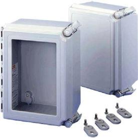 Hoffman A14128CHQRFG Solid Cover/QR, 14.00x12.00x8.00in, Type 4X Encl, Fiberglass