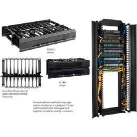 Hoffman DCHS1 CABLETEK™ Horiz Cable Mgr, 1RU, Sgl Side, Fits 19in, Black