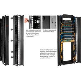 Hoffman DV6D8 CABLETEK™ Vert Cable Mgr, 51RU, Dbl Side, 6.00x96.00