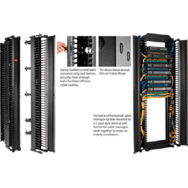 Hoffman DV6S8 CABLETEK™ Vert Cable Mgr, 51RU, Sgl Side, 6.00x96.00