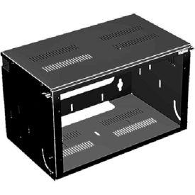 Hoffman E19BHPM8U12 Bottom Hinged Panel, 19in, 8RU, Steel/Black