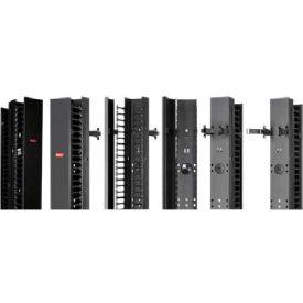 "Hoffman EC3D7 CABLETEK™ Vert Cable Mgr, 3""x84"" Dbl Side, 84.00x3.5.00x9.00"