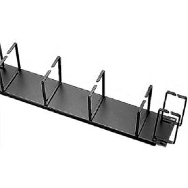 "Hoffman ECK19HV Cable Organizer, V/H feeds, Fits 19"" rack, Steel/Black"