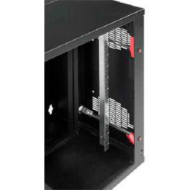 Hoffman EWMR48S AccessPlus Rack Angle, 48 in Sq Hole Plt, Steel/Zink