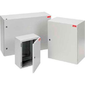 Hoffman G400400225G FUSION G7™ Wall-Mount Enc W/Gl Plate, 400x400X225mm