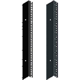 Hoffman PRA1918TPL1 Rack Angle,19in.,L,Tapped, Fits 1800mm, Steel/Black