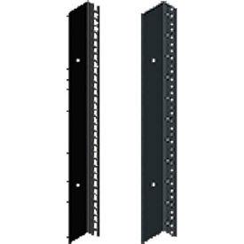 Hoffman PRA1922TPL1 Rack Angle,19in.,L,Tapped, Fits 2200mm, Steel/Black