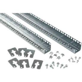 Hoffman PRA198TH Rack Angles, 19 in. Thru-Hole(2), fit PC/SY, Steel/zinc
