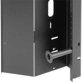Hoffman PVCM168 Vert Cable Mgr, Fits 1600x800mm, Steel/Black