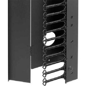 Hoffman PVF208 PROLINE™ CABLETEK™ Vert Cable Mgr, 2000x800mm, Steel/Black