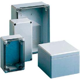 Hoffman Q12129ABDCC QLINE™ J Box, Clear Screw Cover, Type 4X, 122x120x85mm, ABS