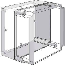 Hoffman Q1313PE Panel, QLINE E / 98x98mm, Fits 125x125mm, Steel/zinc